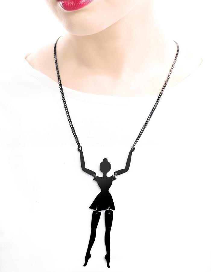 Little ballerina necklace by LIFE IN MONO Jewlery