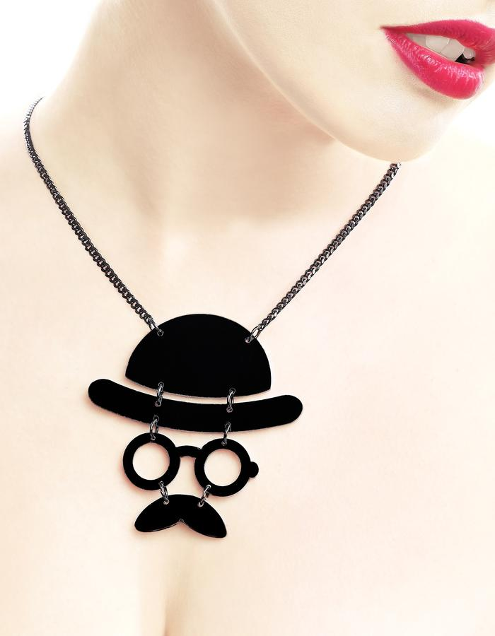 My mustache man necklace by LIFE IN MONO Jewelry