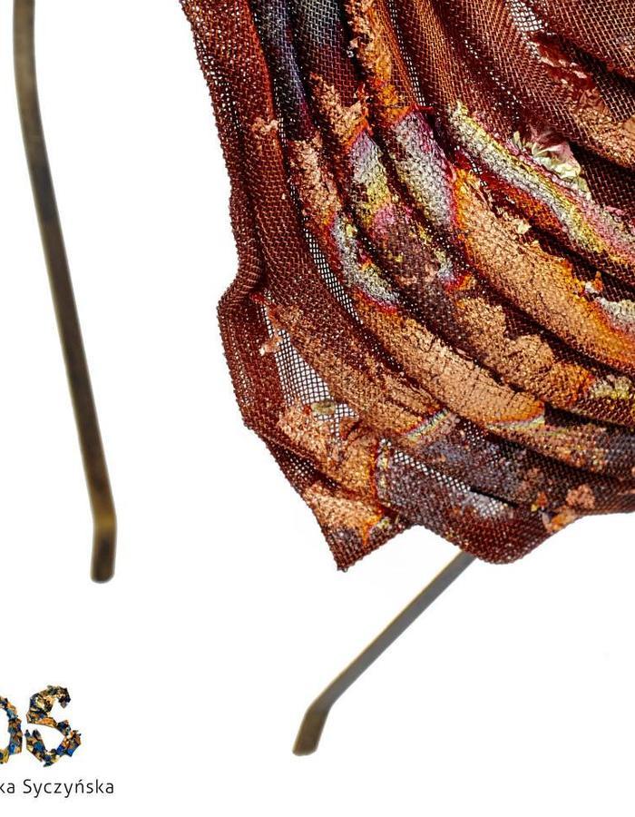Copper Mesh Head Accessories Dominika Syczynska