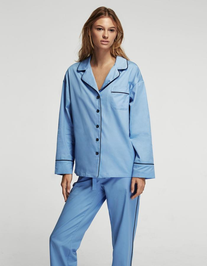 Maria Blue Pajama Set with Pants