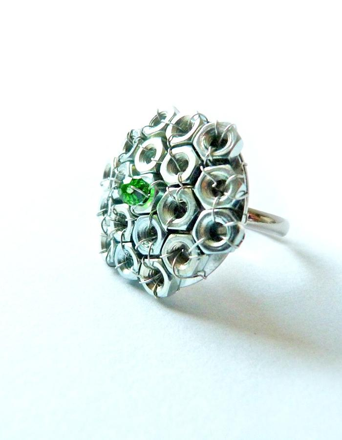 Nut ring with crystal.