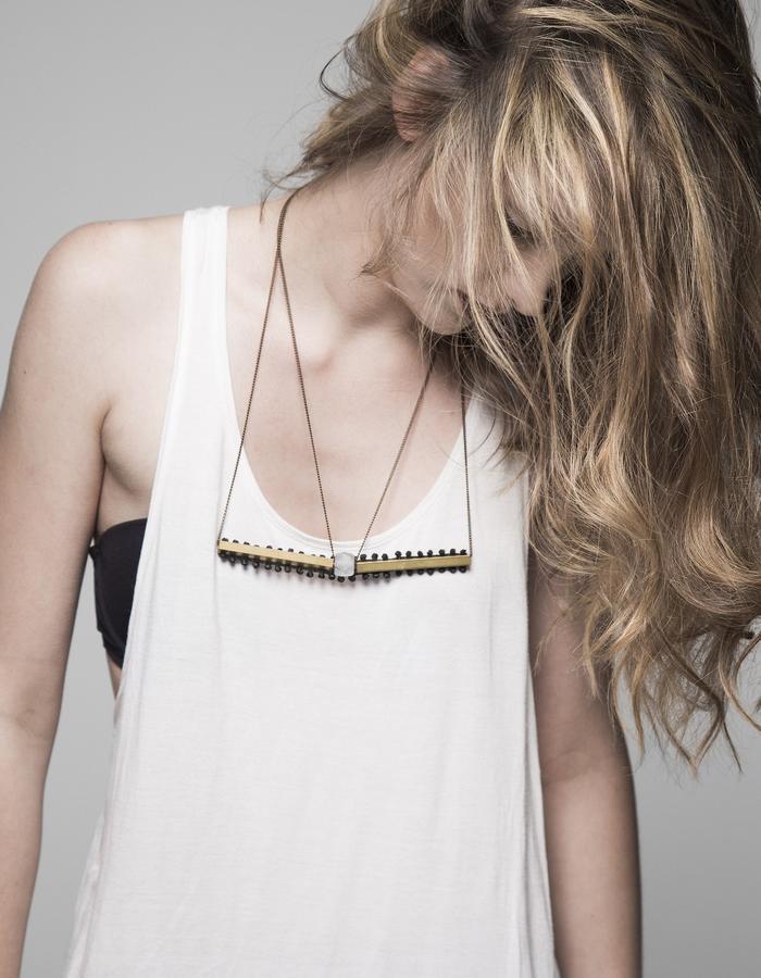 Horizon lace necklace