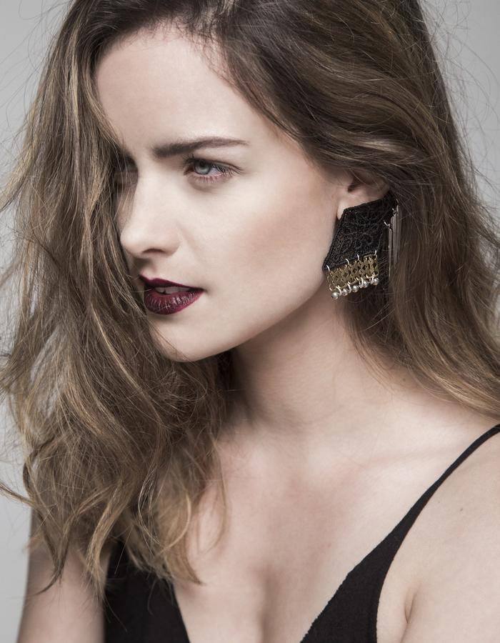 Drop Shadow lace earring