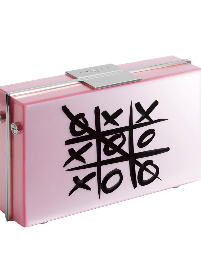 Stylish X/O Pink Clutch Bag by Eshvi