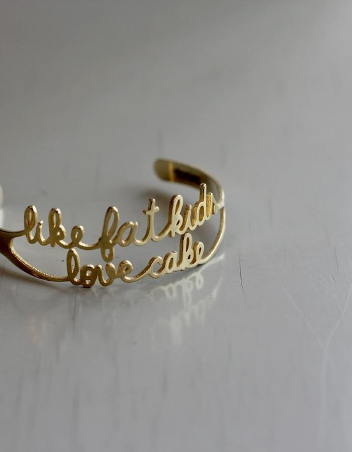 'like fat kids love cake' bracelet