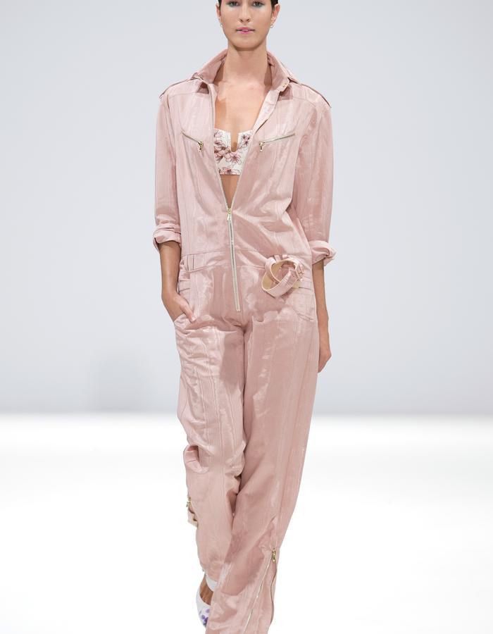 Ong-Oaj Pairam SS15 Spring Summer 15. Women's Boiler Suit in Silk Moire