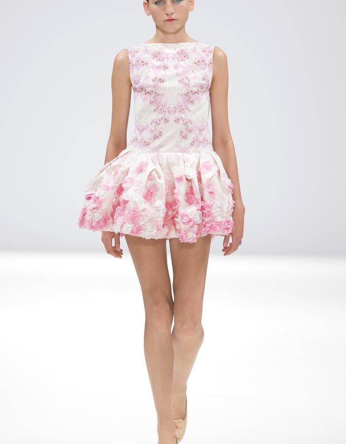 Ong-Oaj Pairam Spring Summer 15 SS15 Embroidered Cherry Blossom Dress Hand Painted Court Shoe