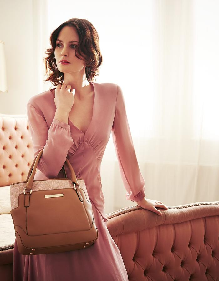 Jean Shoulder in Camel Lace campaign