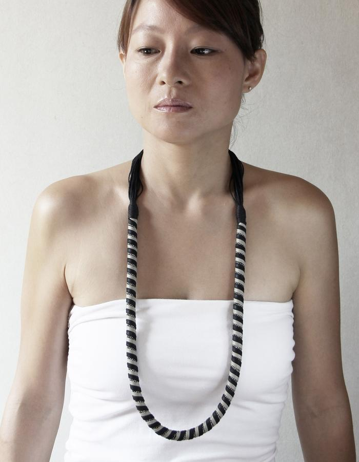 Ilana Creme Long Necklace by Vulantri