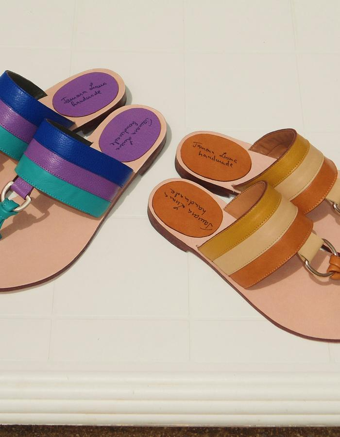 Rainbow sandals.