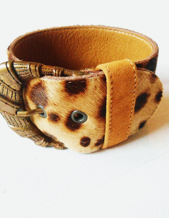 Bracelet leopard pony.