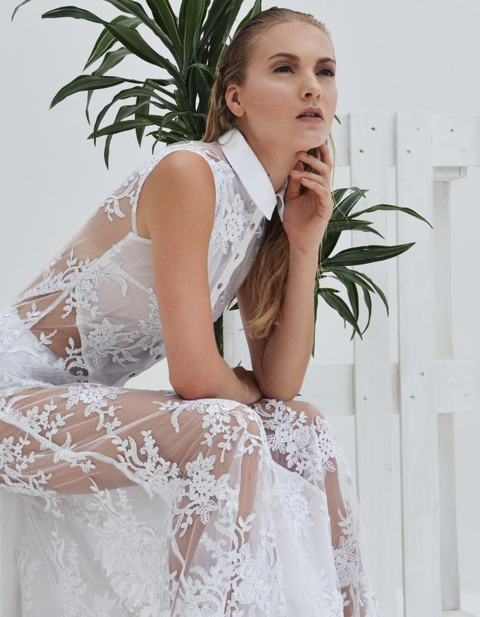 Lace Shirt Gown