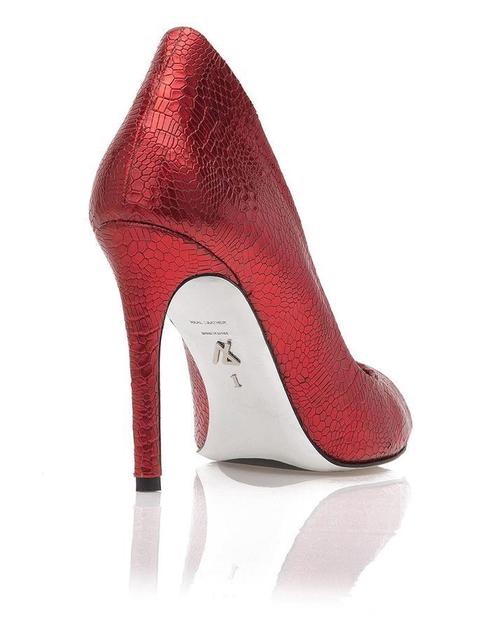 Metallic Red Peep Toe, JustENE Exclusive Design Psique, sole