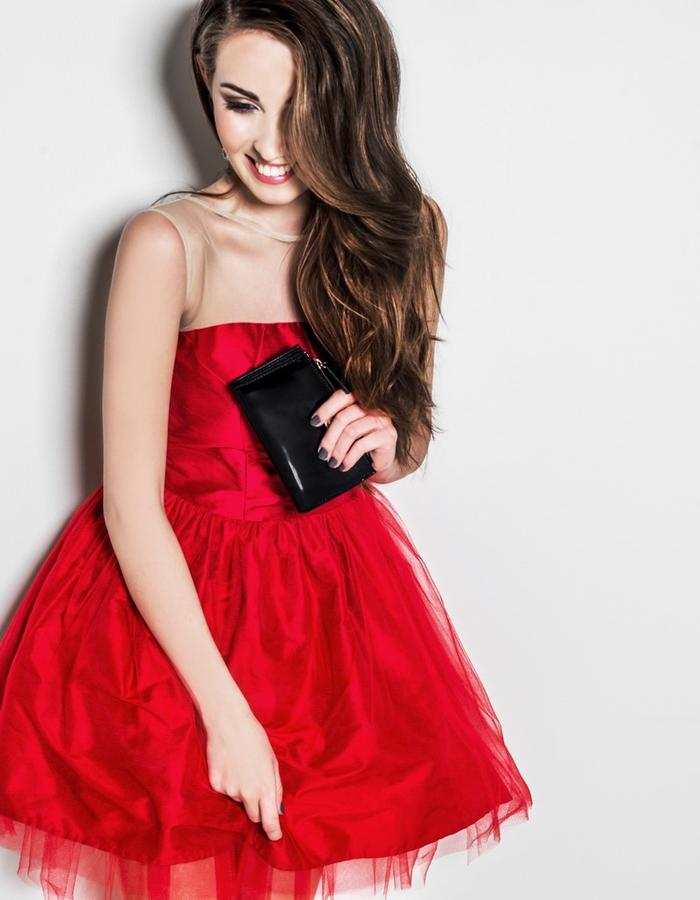 Silk and tulle dress