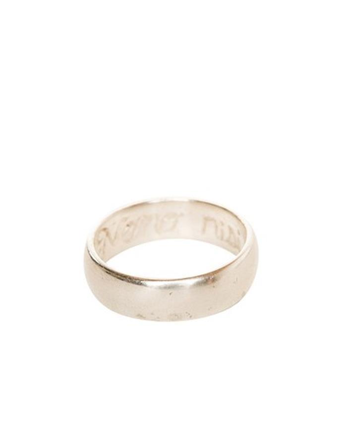 Sterling Silver Poesy Ring