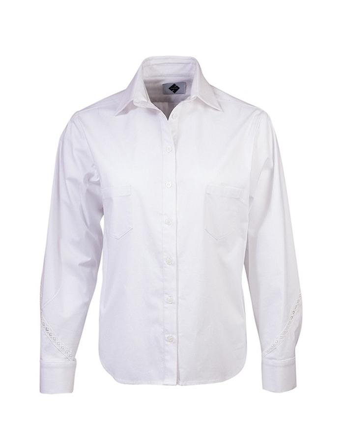 Spiral seamed sleeved cotton tailored shirt