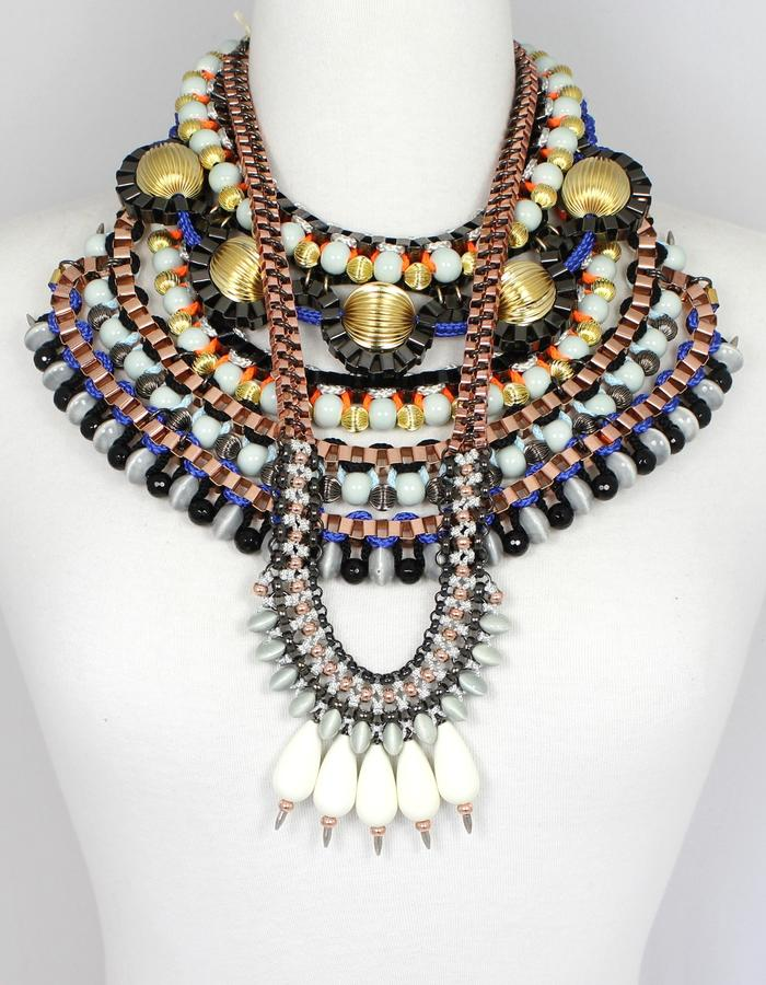 Boudicca collection, bold statement jewellery by Sollis.