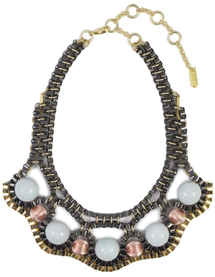 Boudicca necklace handmade with ceramic beads