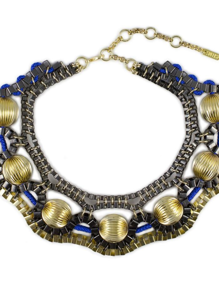 Gold Orbital necklace by Sollis