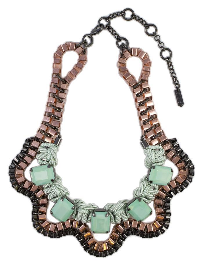 Mint Lunar necklace by Sollis