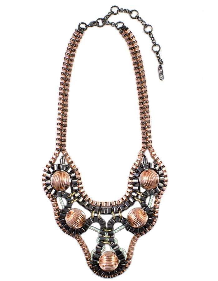 Rose gold Galactica necklace by Sollis