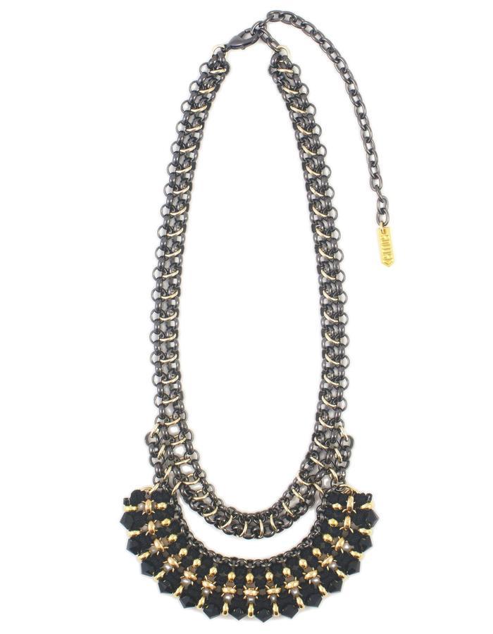 Swarovski crystal Zardozi necklace