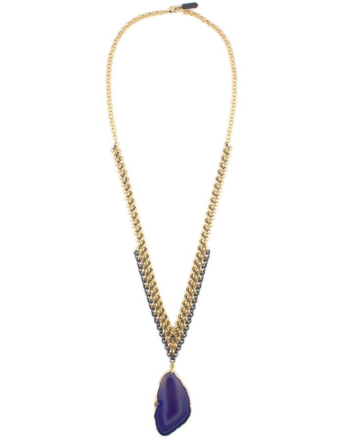 Agate pendant necklace by Sollis