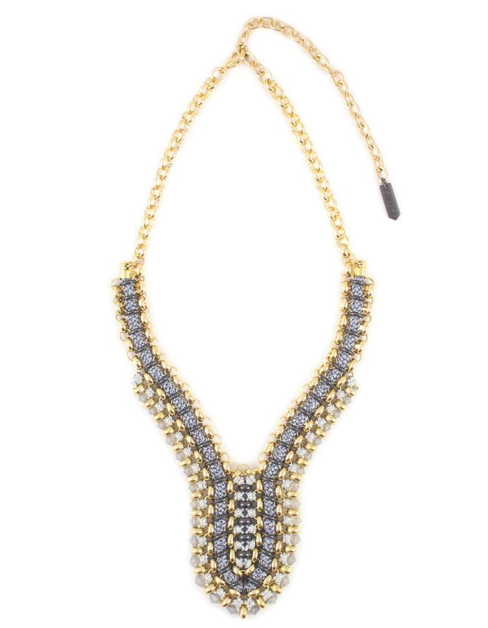 Grey Swarovski crystal deco Horizon necklace