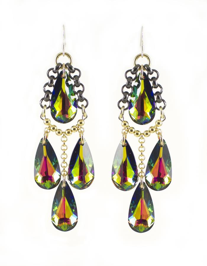 Swarovski crystal drop earrings by Sollis