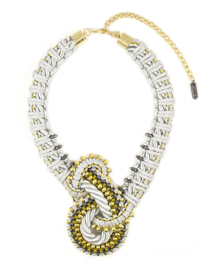 Asymetric knot necklace by Sollis