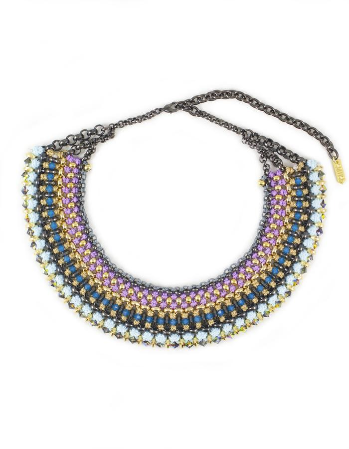 Woven collar necklace by Sollis