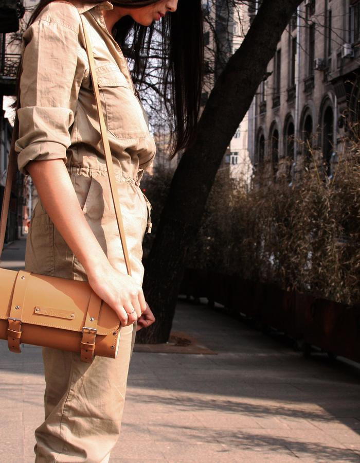 ZVINCA bag.Wood and leather bag