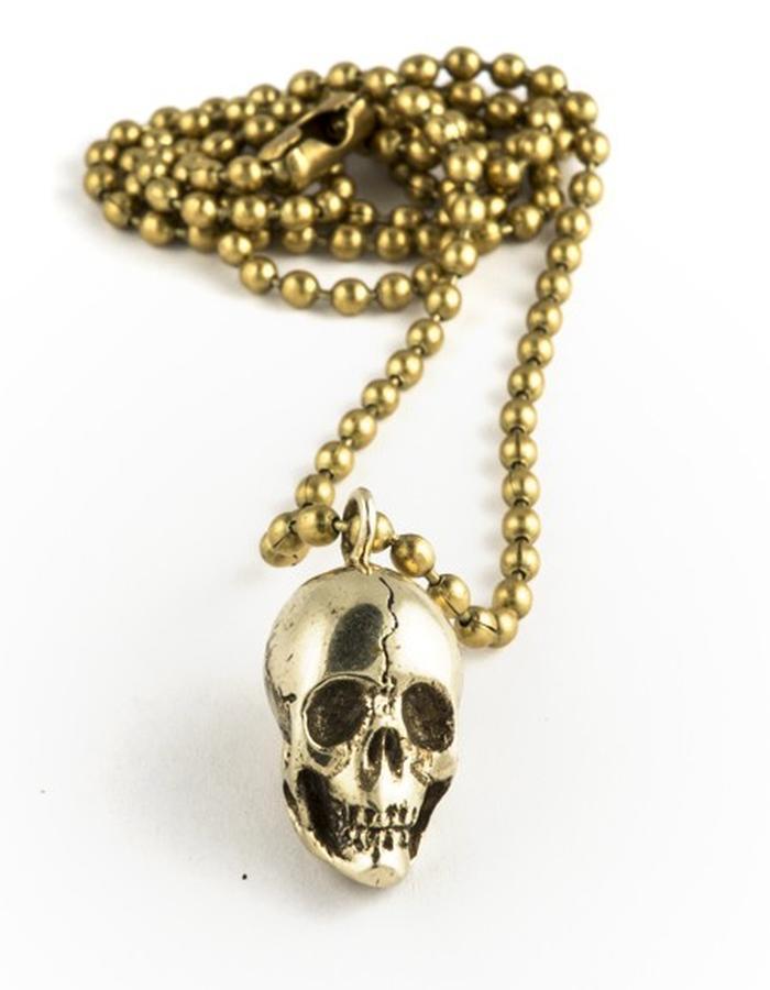 Skulls: Brass pendant