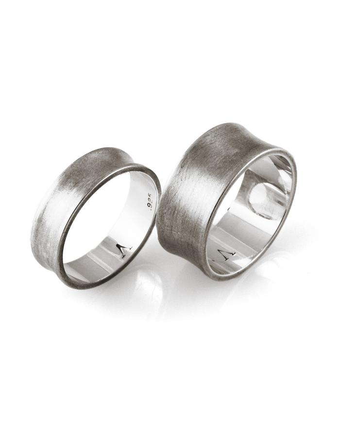 Pulse: Curve rings, set of 2