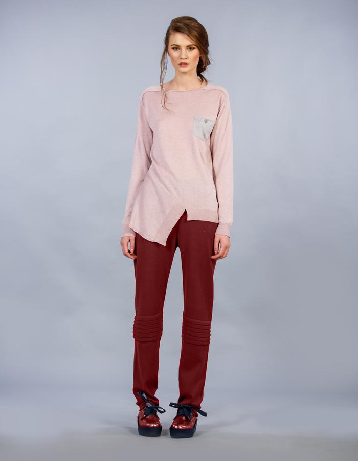 pink powder sweater
