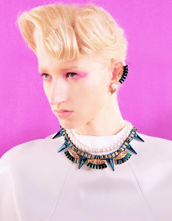 Rocker spikes necklace