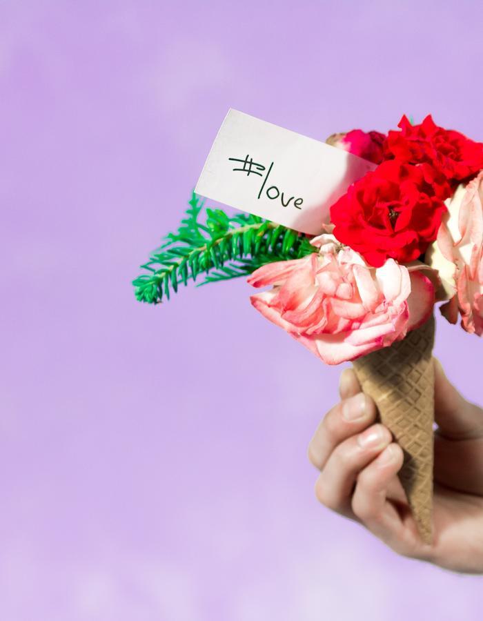 #ISCREAM / 3 #love rose icecream cone / Flore Diana