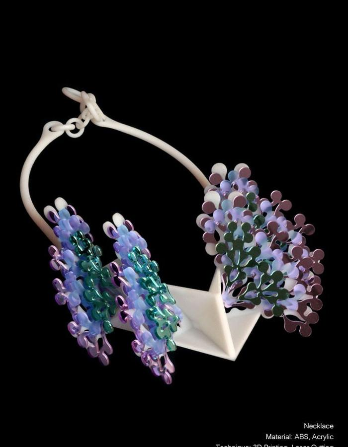 Fairly Fairy, colorful, 3D Printing plastic, Jewellery
