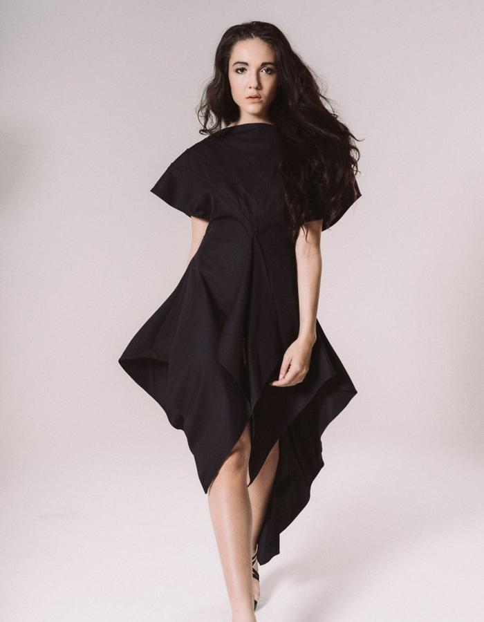 Pleated evening dress