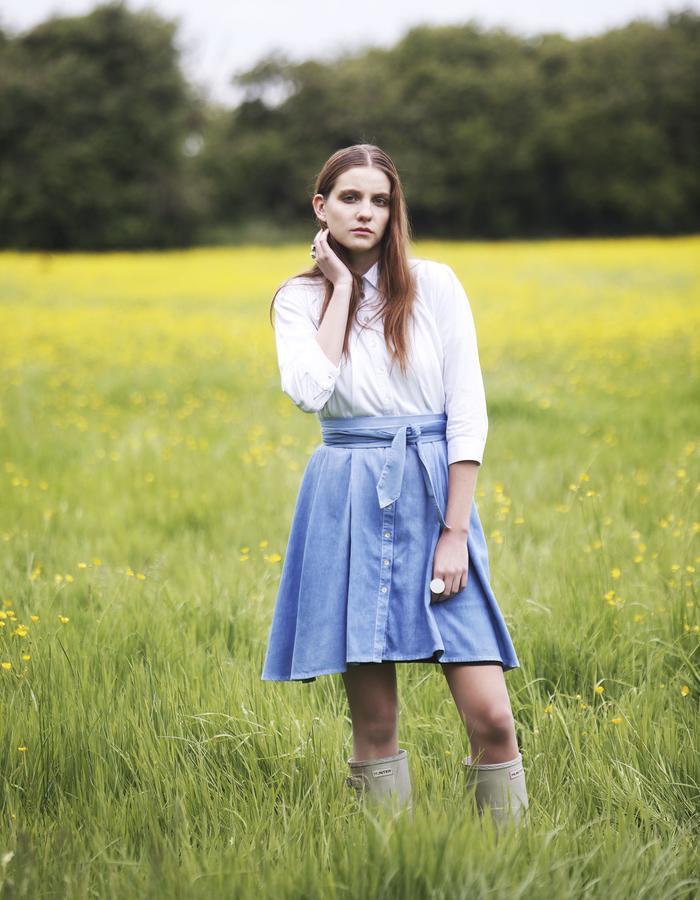 Outsider Woad Dip-Dye Shirt Dress