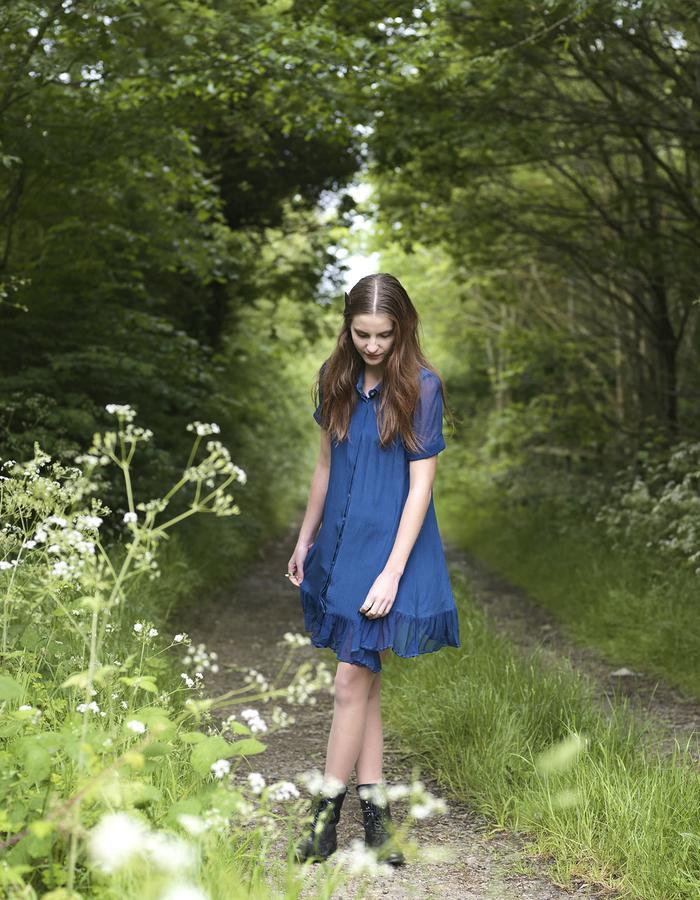 Outsider Woad Dye Silk Shirt Dress