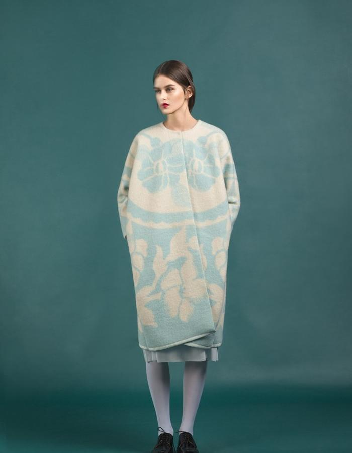 Marit Ilison Longing For Sleep Resort 16 Pastel Blue Orchid Coat