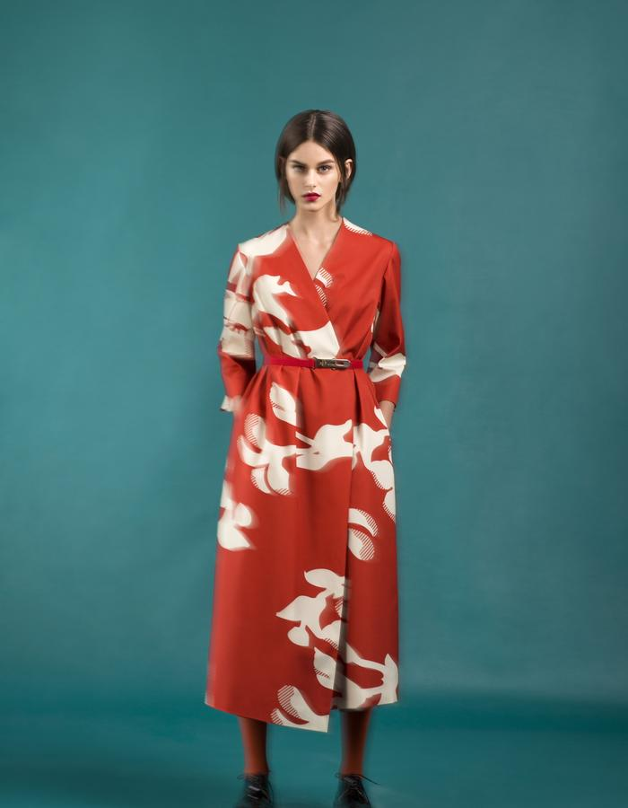 Marit Ilison Longing For Sleep Resort 16 Red Smock Dress