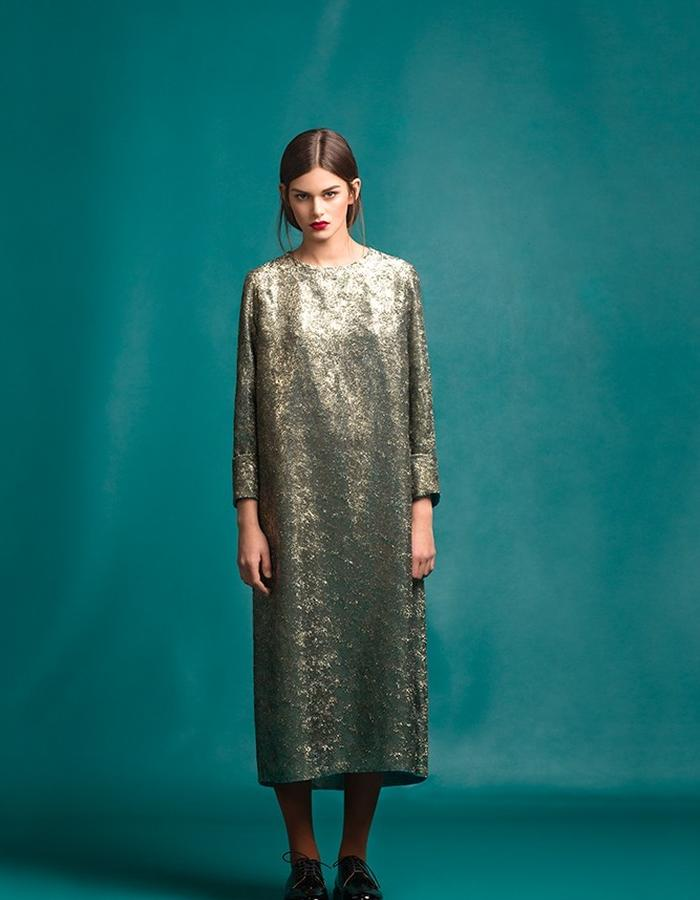 Marit Ilison Longing For Sleep Resort 16 Golden Dress