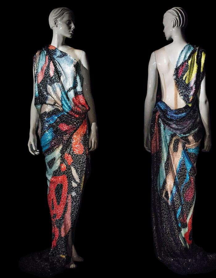 0 Waste draped abstract art