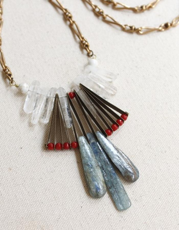 """Art Deco inspired Tribel style statement """"Kya Necklace"""""""