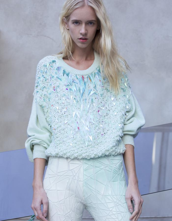 KNITTED ICE CRYSTAL PULLOVER