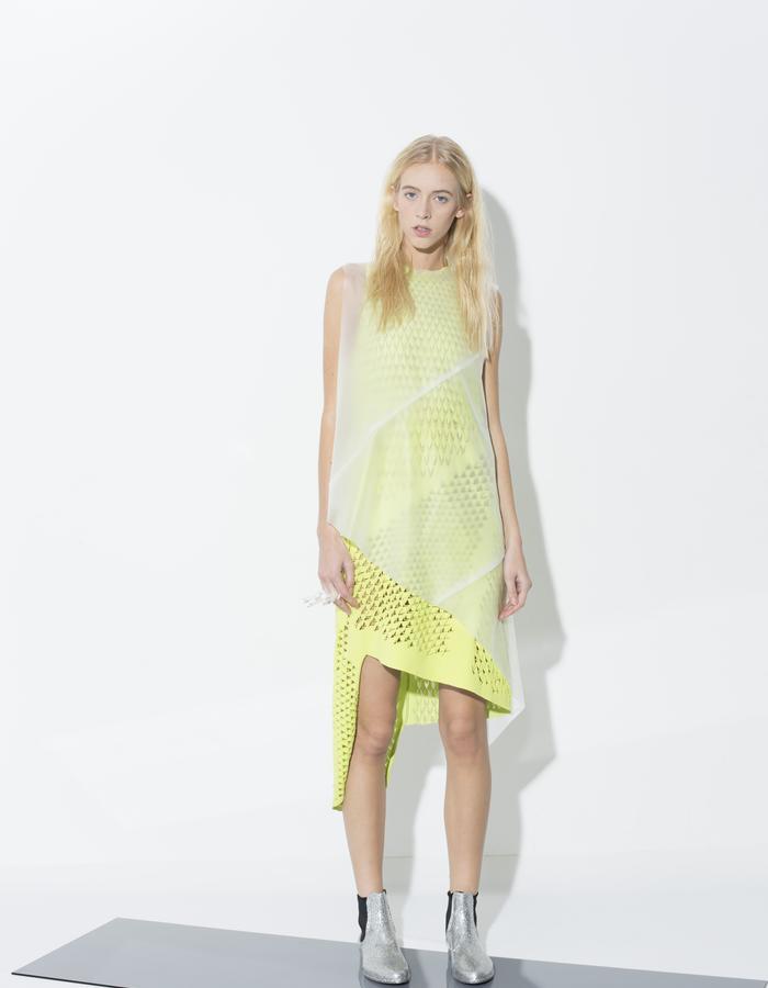 SHORT GREENISH GLOW DRESS