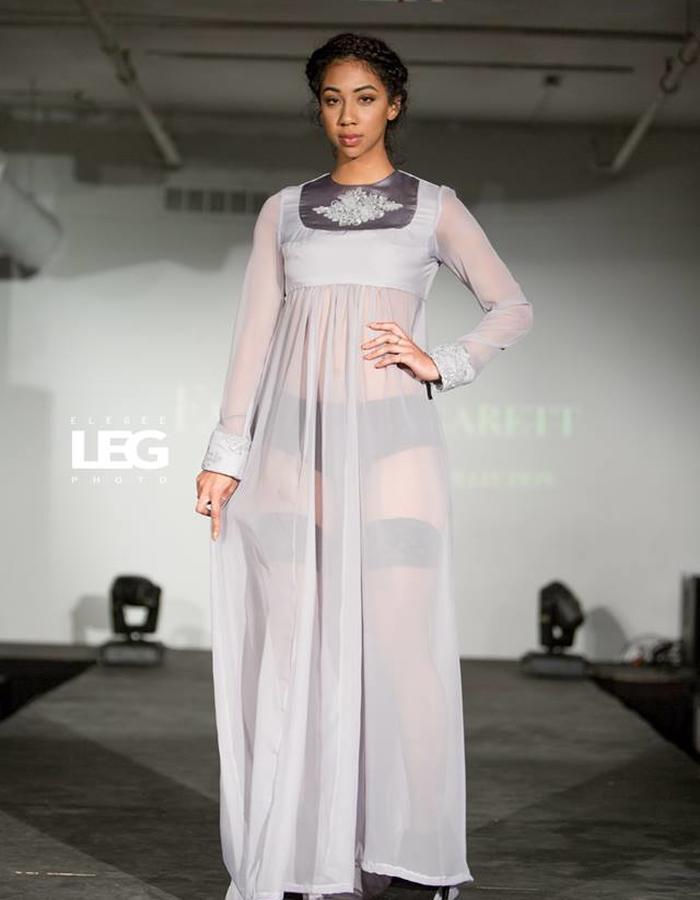 Light grey sheer dress