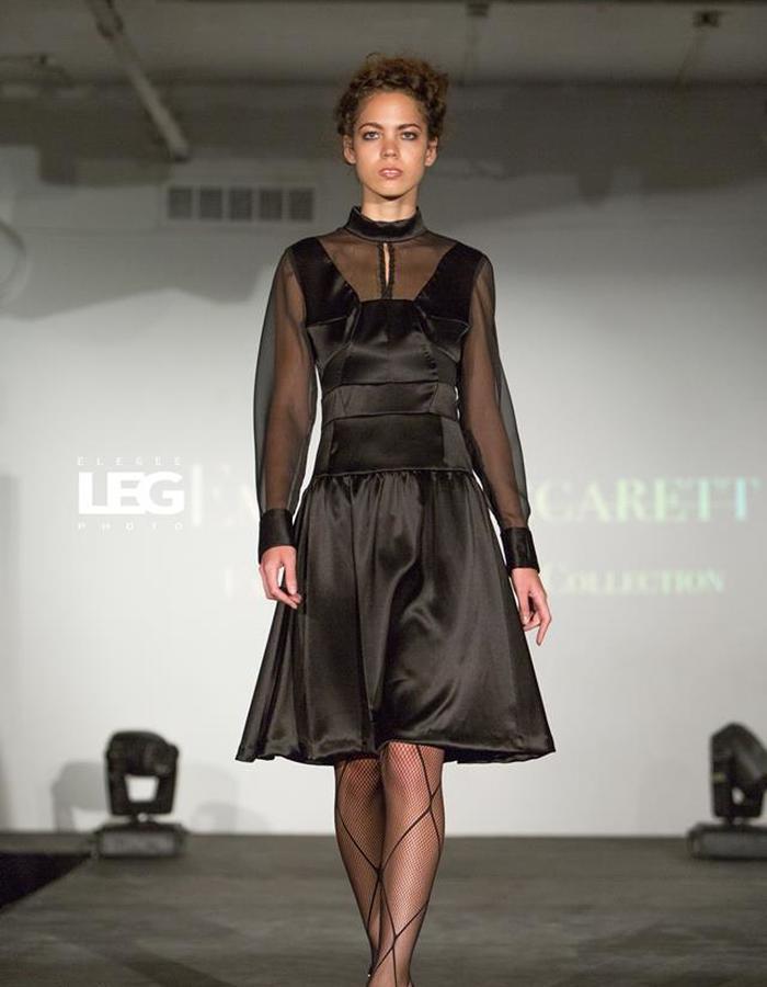 Multi cut little black dress